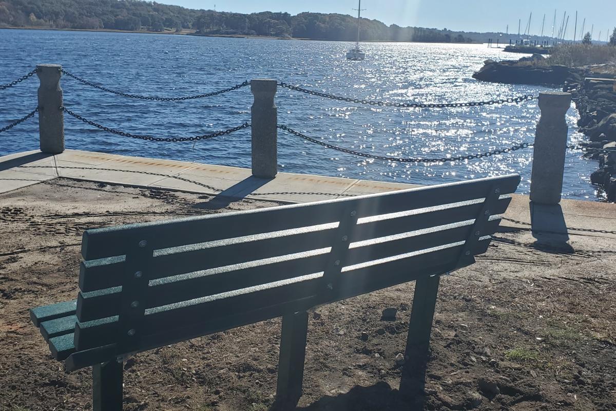 Memorial Bench at Waterfront Park